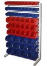Стеллажи с пластиковыми ящиками