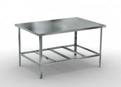 стол разделочный без борта с полкой-решеткой, арт.ср разделочные столы
